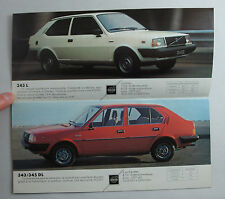 BROCHURE PUBLICITAIRE VOLVO 1981 AUTOMOBILE DEPLIANT 343 345  CAR TRUCK