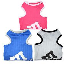 Dog Puppy Pet Cool Summer T-shirt pet clothing size S S M L XL XXLPink Blue Grey