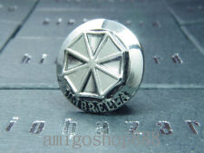 Resident Evil Biohazard Umbrella Army Silver Pin