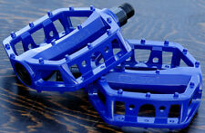 "Blue Platform Bike Pedals 1/2"" Vintage Schwinn Cruiser Old School BMX Bicycle"