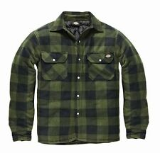 MENS DICKIES PORTLAND WORKWEAR PADDED WORK CASUAL SHIRT SH5000 GREEN SIZE S-XXXL