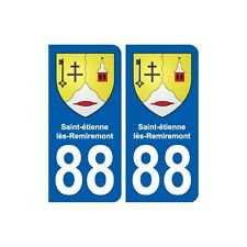88 Saint-étienne-lès-Remiremont blason autocollant plaque stickers ville arrondi