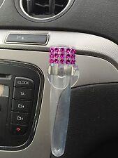 Auto voiture vase avec ventouse, rose chaud, tige en plastique conique vase, vw vase style