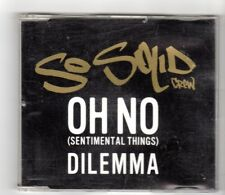 (HX216) So Solid Crew, Oh No (Sentimental Things) / Dilemma - 2000 CD