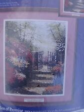 """Thomas Kinkade Counted Cross Stitch KIT 11"""" x 14""""  NEW - The Garden of Promise"""