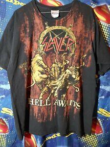 Vintage Slayer Hell Awaits Sz XL Shirt