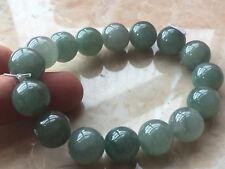 Certified 13.5mm 100% Natural Grade  Green A Jade Bangle Bracelet  手镯1635AAAA