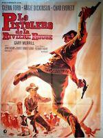 Plakat Kino Western Le Gunfighter Softshell De La Fluss Rouge - 120 X 160 CM