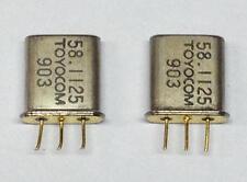 1 Paar (2 Stück) Quarz Filter 58.1125 MHz Toyocom (M1891)