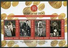 Liberia 2018 MNH Year of Dog Famous Dogs Laika 4v M/S Chinese New Year Stamps