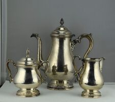 International Prelude Sterling Silver 3 PC Coffee Pot Creamer Sugar Set C366