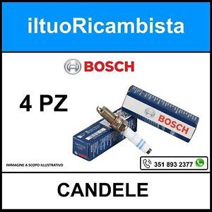 4 CANDELE BOSCH PEUGEOT 206 / 207 / 307 / 308 I / 406 / 407 1.6 16V - 2.0 16V