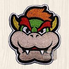 Bowser Head Embroidered Patch Super Mario Bros Villain Videogame Nintendo Wii