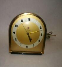 Vintage Telechron Electric Table Clock Gold Art Deco Model 4F67 USA Shelf Mantel