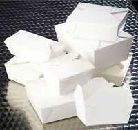 White Deli Boxes   Takeaway Food Containers   Noodles Rice Box   folding lids