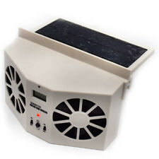 Solar Dual Fan Auto Front/Rear Window Air Vent Cool Cooler Fan in Ivory For Sale