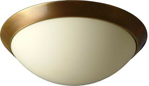 Ceiling Light E27 Ø30cm IN Brass Light Ceiling Lamp Rustic Cover Glass Inside