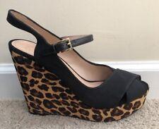 New Tory Burch Wedges Shoes Cheetah 10 Animal Print