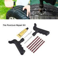 Emergency Puncture Car Van Motorcycle Tubeless Tyre Tire Repair Kit Tool Strips