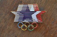 Vintage original LARGE 1984 Summer Olympic Games 'signed' Stars-In-Motion pin
