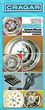 Brochure: 1978 Cragar. Custom Wheels Exhaust Systems Louvers. Sticker. Rare!