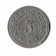 5 Pfennig Schmiedeberg Eisen Notgeld Kriegsgeld (Prov. Sachsen) Funck 476,1