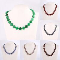 Beads Pendant Necklace Statement Natural Stone Choker Bib Collar Fashion Jewelry