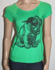 Joker Valve Designer Green Dog Print Short Sleeve Tee Size M BNWT #SS54