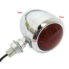 Universal Chrome Motorcycle Turn Signal Bullet Blinker Red Indicator Lights 12V
