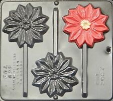 Poinsettia Lollipop Chocolate Candy Mold Christmas 2097 NEW