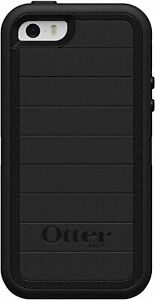 OtterBox Defender Rugged Case Only iPhone SE (1st Gen) 5S, 5 Black Easy Open Box