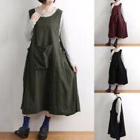 Women Sleeveless Summer Tank Dress Oversize Tank Dress Midi Dress Sundress Plus