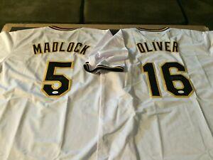 Autographed//Signed Bill Madlock Pittsburgh White Baseball Jersey JSA COA