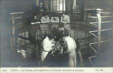 La Sorbonne Paris Medical Doctors Dissecting Animal Physiology c1910 RPPC