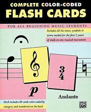Complete Color Coded Flash Cards for All Beginning Music Students, New