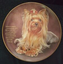 Danbury Mint Cherished Yorkies Someone To Comfort Plate Yorkshire Certificate