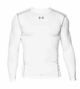 Under Armour Coldgear Compression Crew Men's Shirt Long Sleeve White New Medium