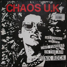 Chaos UK : One Hundred Per Cent Two Fingers in the Air Punk Rock VINYL Limited