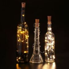 5 LED Warm Light White On A String Cork Bottle Stopper Lamp Light Wedding Event