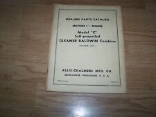 "ALLIS CHALMERS PARTS CATALOG MODEL ""C"" GLEANER BALDWIN COMBINE 1962"