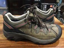 "KEEN Targhee Hiking Shoe Low Top Men's Size 10.5 Brown Red ""KEEN-Dry"" EUC"
