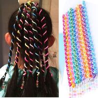 6 Pcs Rainbow Color Cute Girl Curler Hair Braid Hair Styling Tools Hair Roller