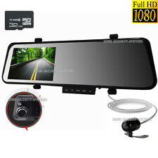 Dash Camera 1080 32GB In Car RearView Mirror Cam Reversing Security System Crash