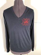 Designer John Galliano Men's V-Neck Cashmere Sweater Medium