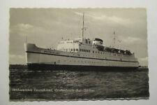 Ansichtskarte Schiff  Fährschiff Deutschland Großenbrode Kai 1958