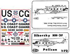"""1:72 Sikorsky HH-3F Pelican, US Coast Guard  """"C3D Decals""""  NEU / NEW !!!"""
