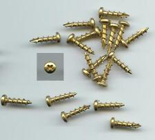 "Bag of 250 #6 X 5/8"" PHILLIPS CABINET HINGE WOOD SCREWS - OVAL HEAD BRIGHT BRASS"