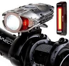 Super Bright USB Rechargeable Bike Light Set - Blitzu Gator 380 POWERFUL Bike -