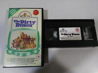 The Dirty Dozen Lee Marvin Charles Bronson Robert Aldrich VHS Tape English
