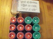 Vintage CLAIROL Lock N Roll Curlers Hot Rollers BT-3